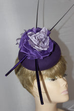Ladies Fascinator Hat Felt/ Silk Flowers / Quills / Races / Weddings/ Ascot