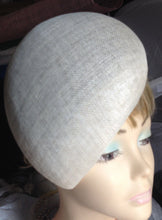 SAC46 Ladies sinamay curve Tear Drop's shape Pill Box Hat Base/ Races / Weddings/ Ascot