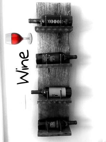 Barnwood Wine Rack