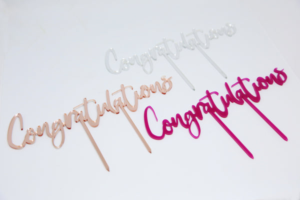 Congratulations Acrylic Brownie Topper