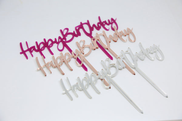 Happy Birthday Acrylic Brownie Topper