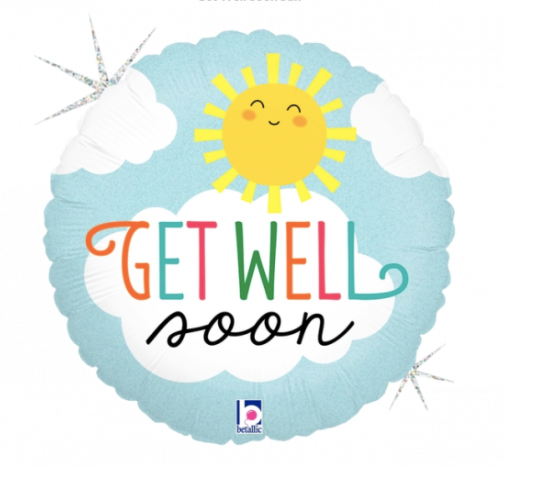 'Get well soon' Foil Helium Balloon