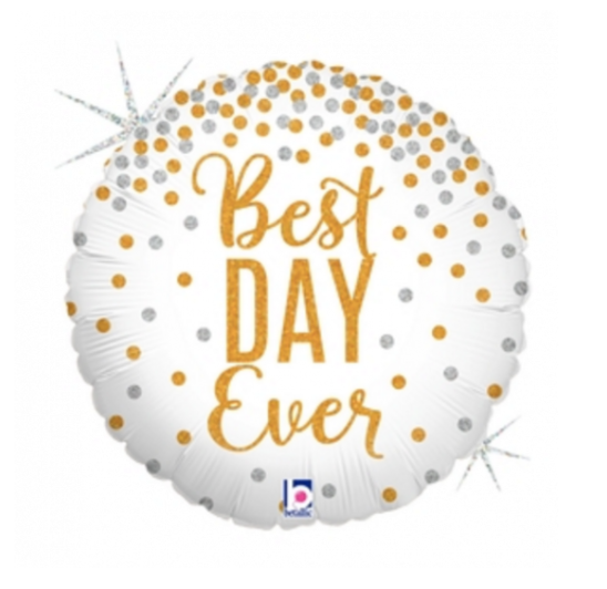 'Best Day Ever' Foil Helium Balloon