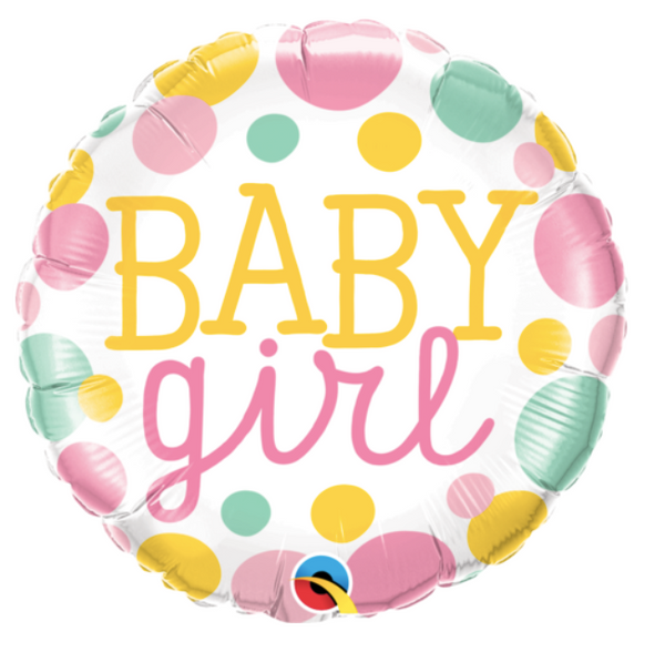 'Baby Girl' Foil Helium Balloon