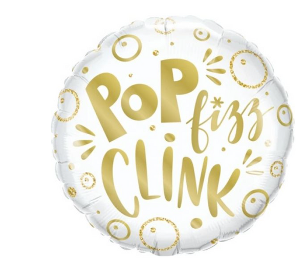 'Pop Fizz Clink' Foil Helium Balloon