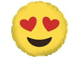 Emoji Helium Balloon 'Heart Eyes'