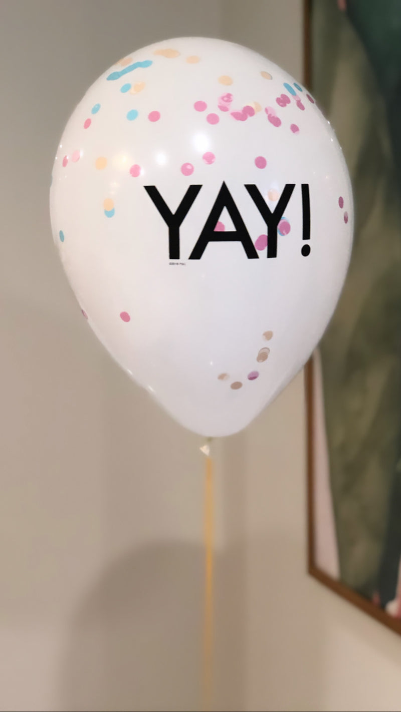 'YAY' Helium Balloon
