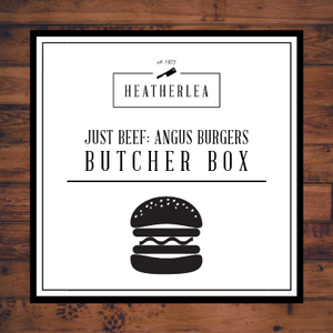 Just Beef: Angus Burgers Butcher Box