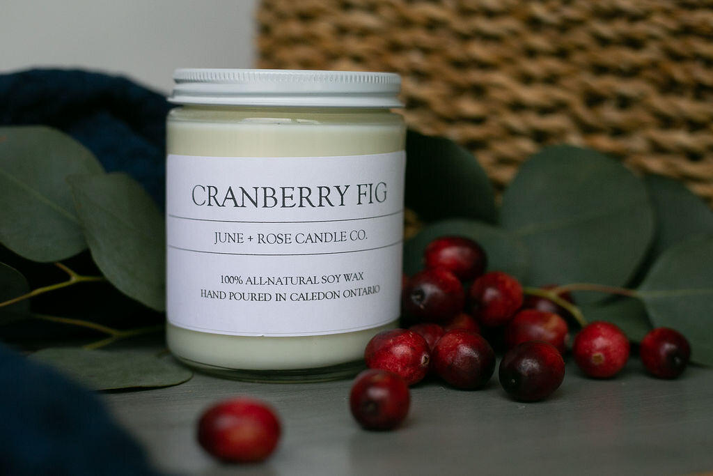 Cranberry Fig Candle (June+Rose Candle Co)