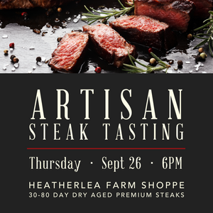 Artisan Steak Tasting: 30-80 Day Dry Aged Premium Steaks