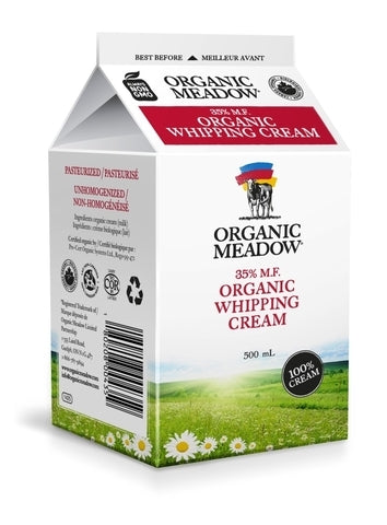 Whipping Cream 35% | Organic Meadow
