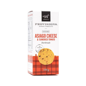 Asiago Cheese & Sundried Tomato Shortbreads