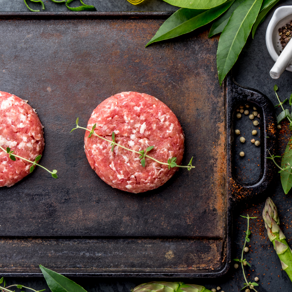 Angus Beef Burgers: Seasoned PKG of 4