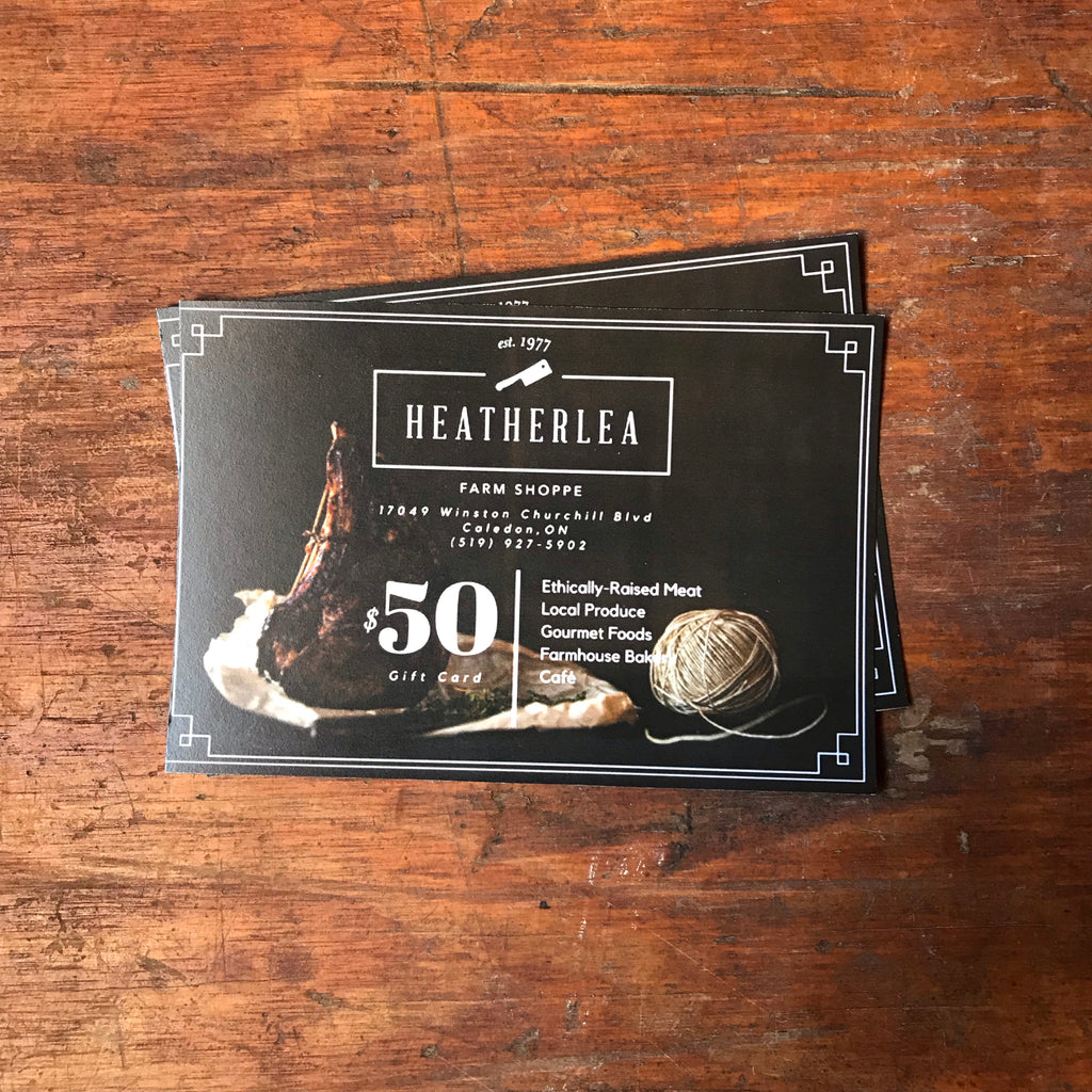 $50 Heatherlea Gift Card