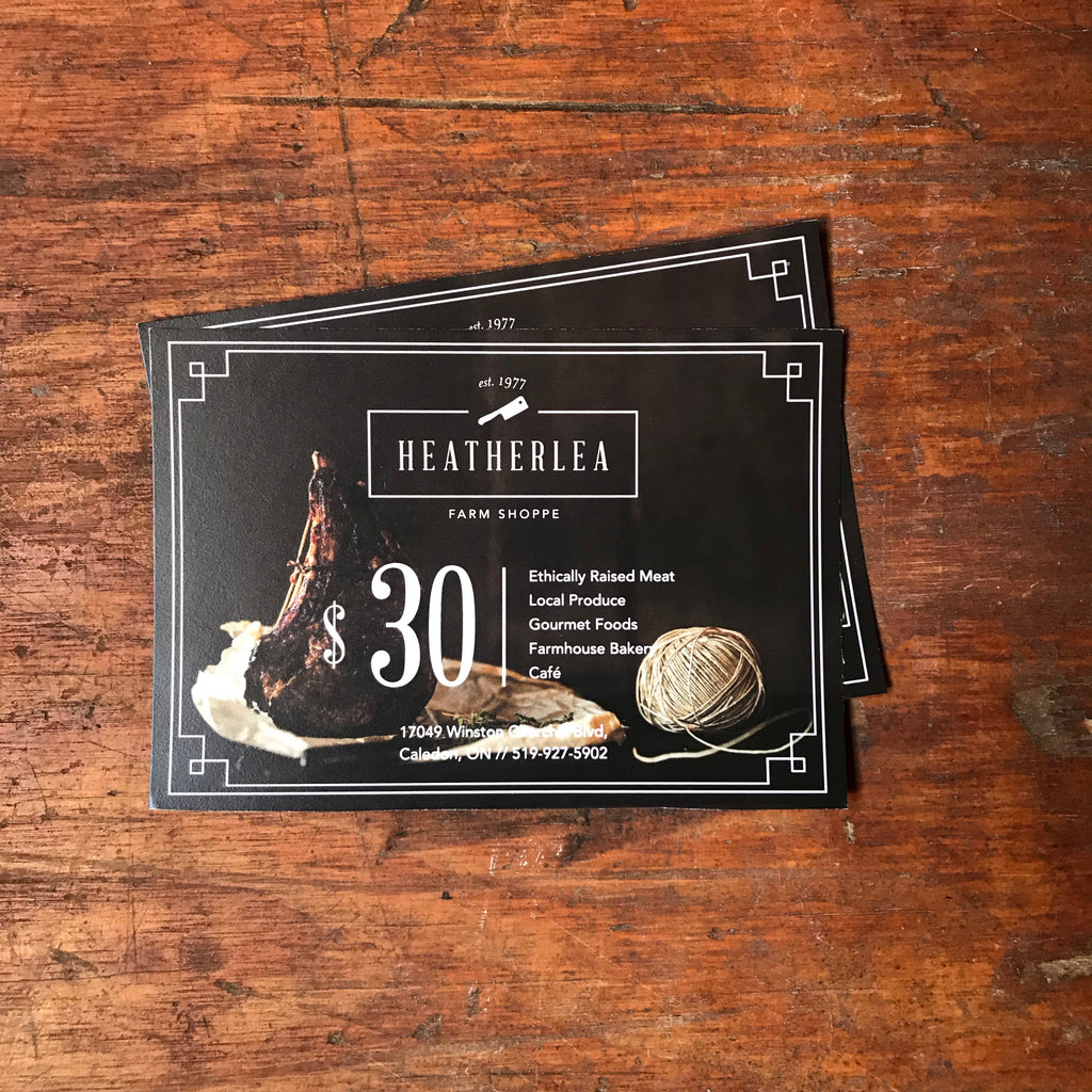 $30 Heatherlea Gift Card