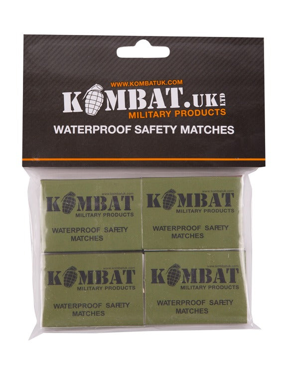 Kombat Waterproof matches Pack of 4