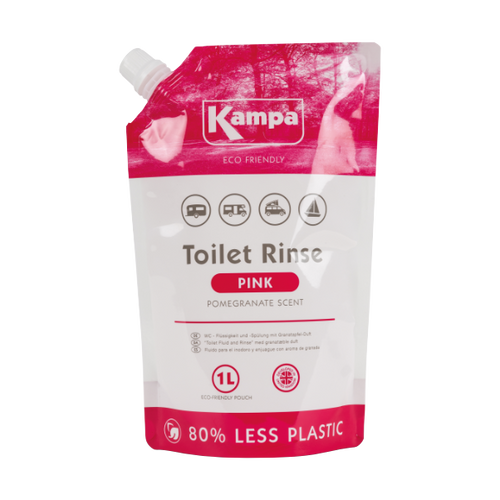 Kampa Dometic Toilet Fluid - Pink 1L Eco Pouch
