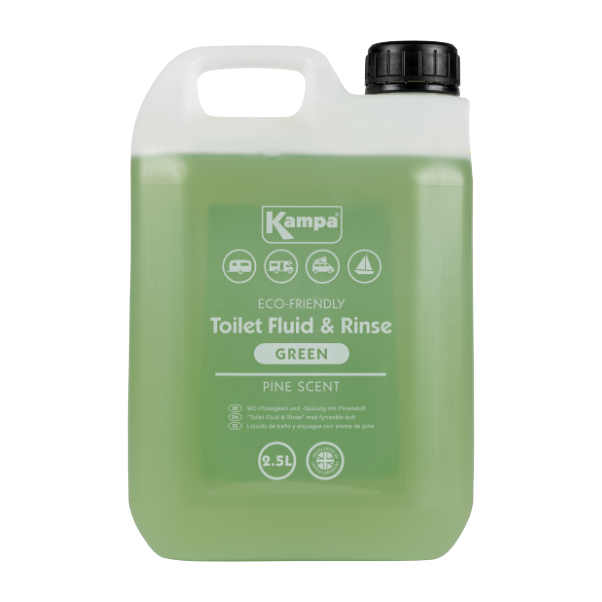 Kampa Dometic Toilet Fluid & Rinse - Green 2.5L