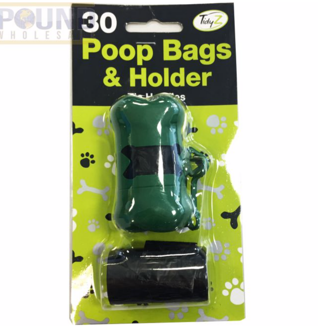 30 Dog poop bags & dispenser