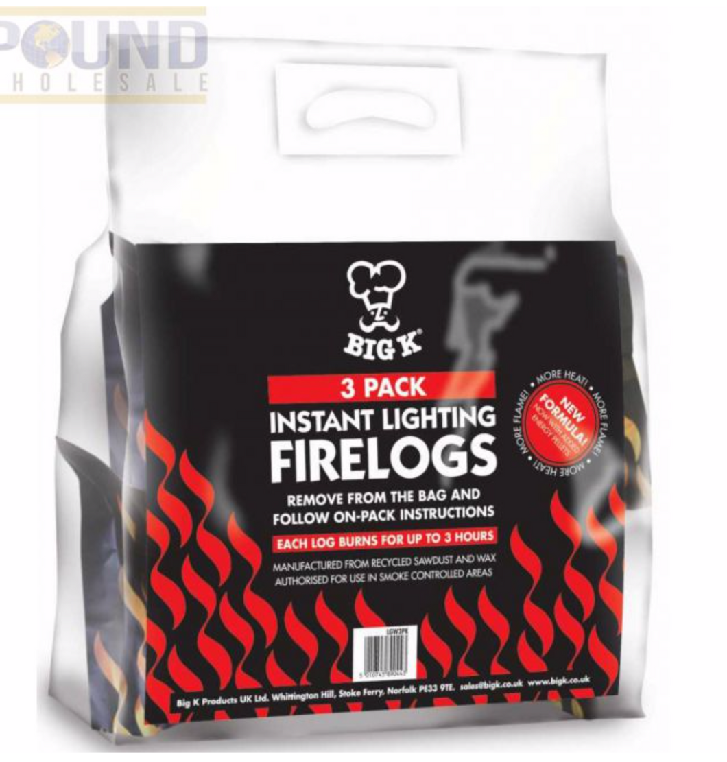 Big K Instant Lighting Firelog 3 Pack