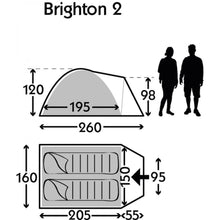 Kampa Dometic Brighton 2 man tent