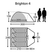 Kampa Dometic Brighton 4 man tent