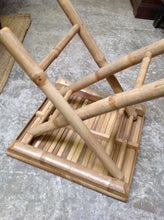 Bamboo folding side table