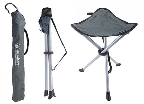 Summit Tripod Stool With Carry  Bag - Slate Grey