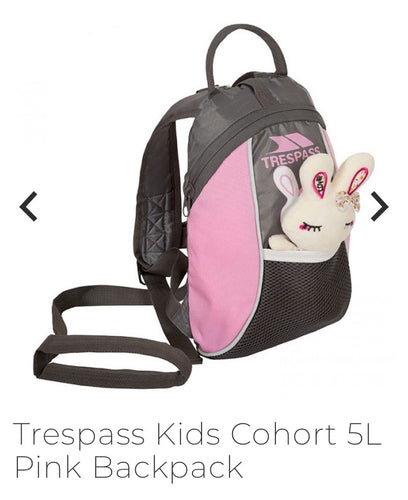 Trespass Cohort bunny PINK TODDLERS 5L BACKPACK