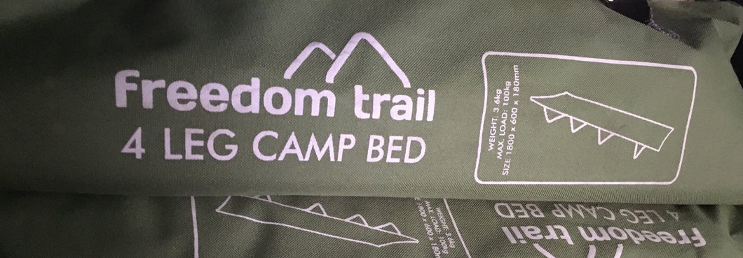 4 leg camp bed Freedom Trail