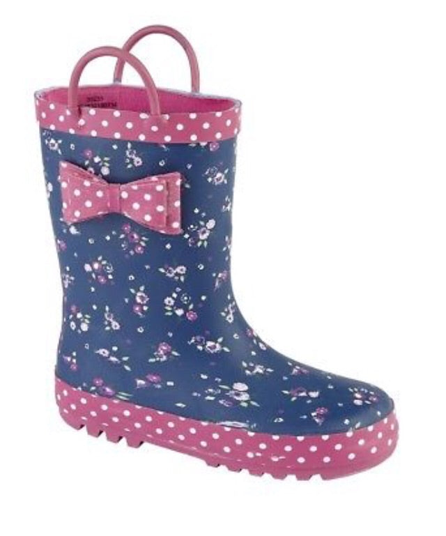 Girl's Woodlands Wellies Floral pull on