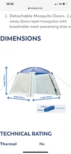 Trespass lightweight gazebo shelter