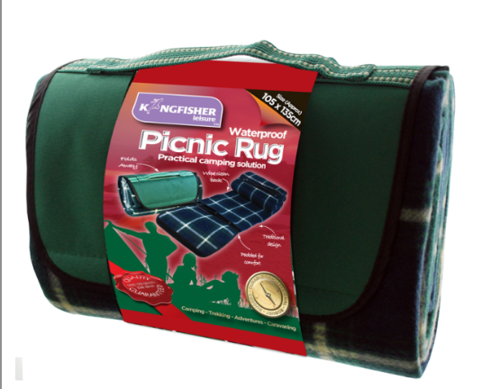 Kingfisher picnic rug