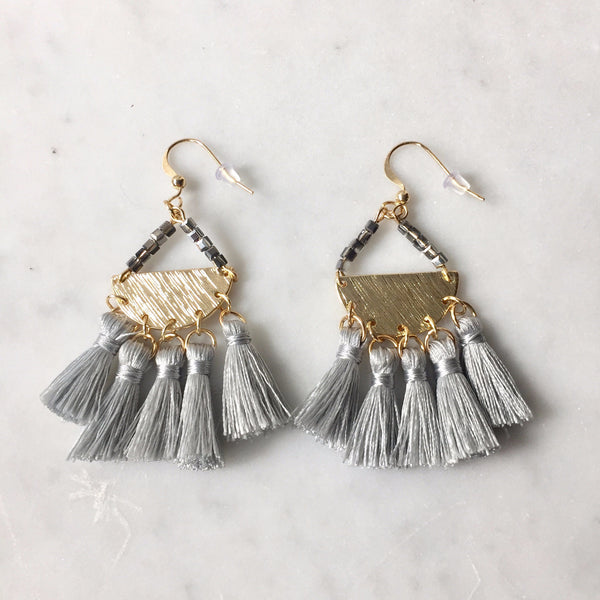 What a tassle earring