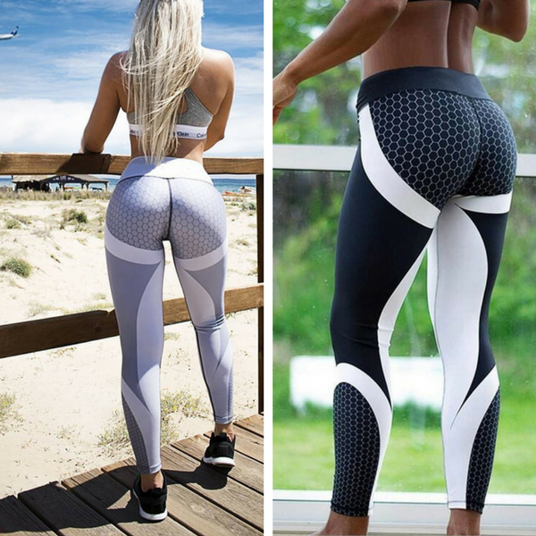 Mesh Pattern Workout Leggings at ModernLifeWay.com