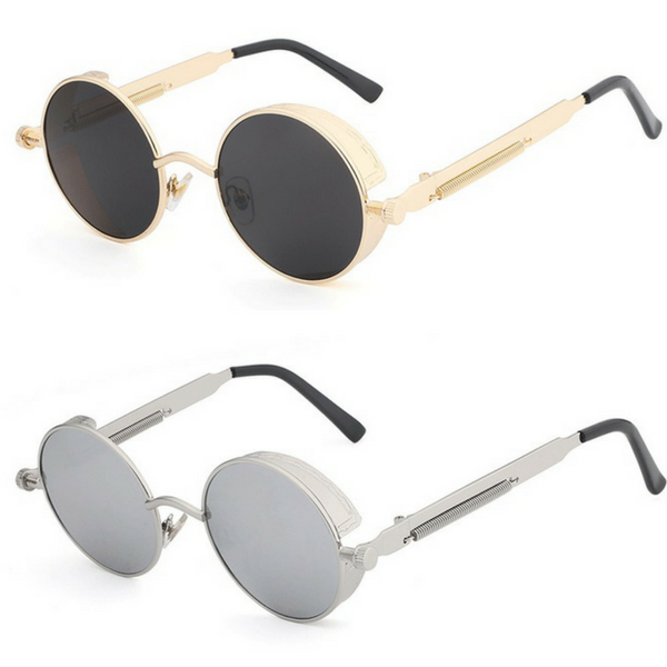 Steampunk Round Metal Sunglasses at ModernLifeWay.com