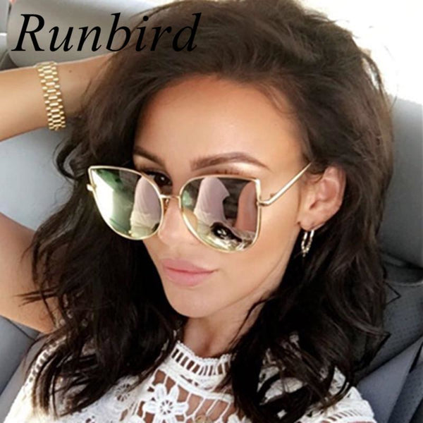 RunBird Square Style Fashion Women's Mirror Sunglasses at ModernLifeWay.com