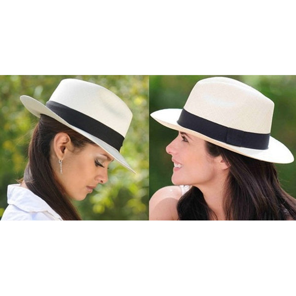 Large Brim Straw Women's Hat With Black Ribbon at ModernLifeWay.com