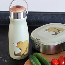 "Thermosflasche ""Brown Bear"" mit Lunchbox und Tomaten"