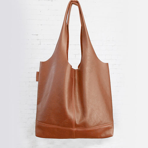 Leder-Shopper cognac