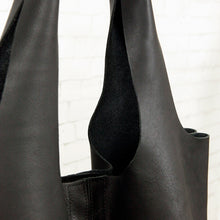"Shopper Eco Leder ""Lou"", schwarz"