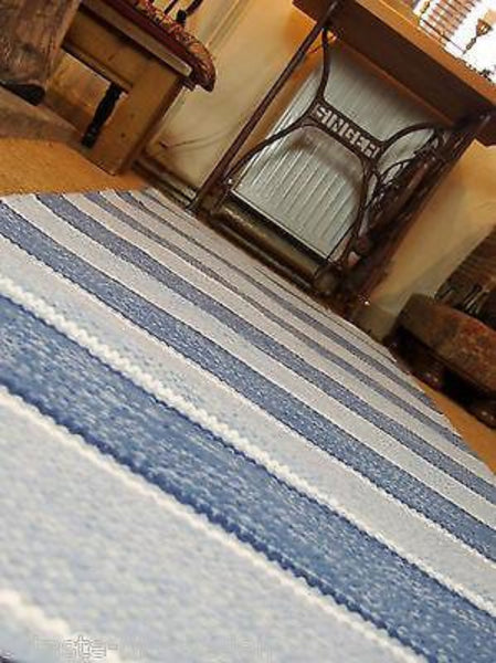 STYRSÖ  Blue and White Striped Cotton Rirg 4 sizes
