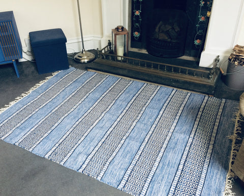 DALARNA Swedish Design Trasmattor Blues 6 sizes