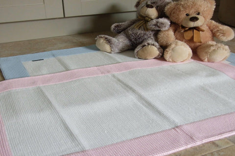 BEBÉ Cotton Blend Rugs with Waffle Border 2 colours/sizes