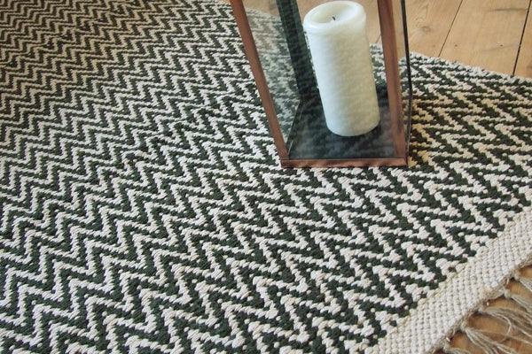 GOSIG Herringbone Soft 100% Recycled Cotton Rugs 70 x 115 cm Assorted Colours