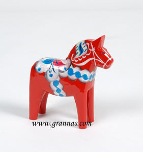 Iconic Swedish Red Wooden Dala Horse