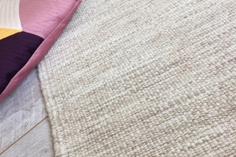 ELLIE beige wool rug in 6 sizes