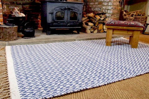 GOSIG Herringbone Soft 100% Recycled Cotton Rugs 90 x 150 cm Assorted Colours