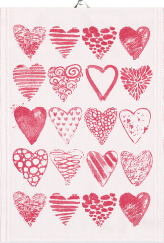 Ekelund Hearts Organic Cotton Towel
