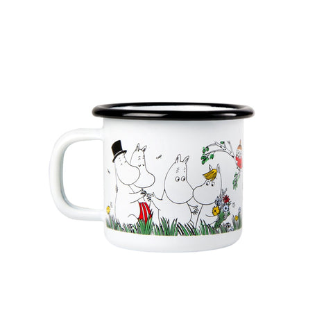 Moomin Happy Family Enamel Mug 1.5 dl Toddler Size